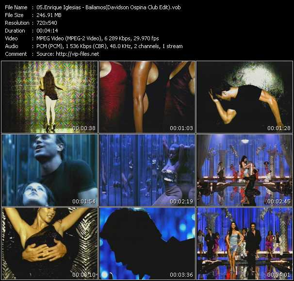 download Enrique Iglesias « Bailamos (Davidson Ospina Club Edit) » video vob