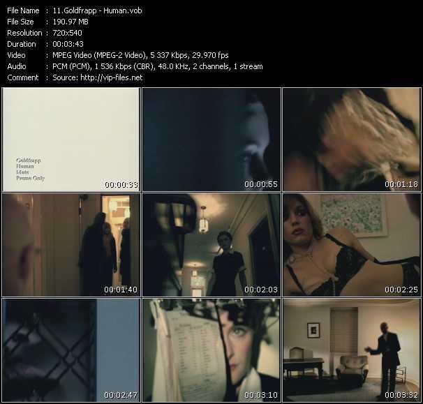 download Goldfrapp « Human » video vob