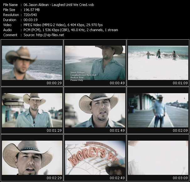 download Jason Aldean « Laughed Until We Cried » video vob