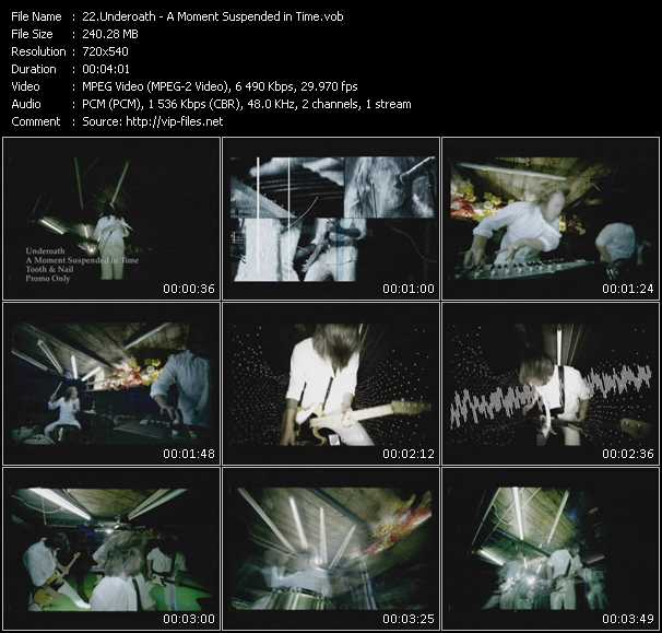 download Underoath « A Moment Suspended in Time » video vob