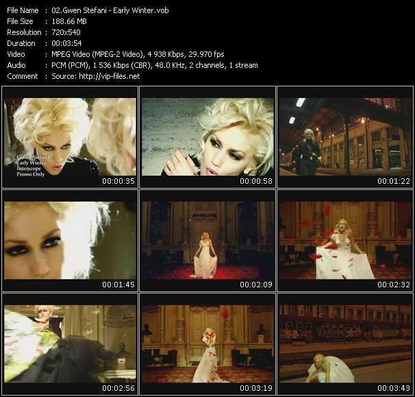download Gwen Stefani « Early Winter » video vob
