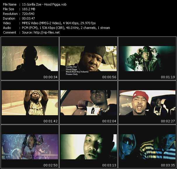download Gorilla Zoe « Hood Figga » video vob