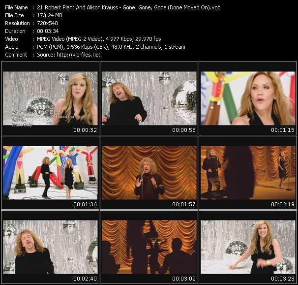download Robert Plant And Alison Krauss « Gone, Gone, Gone (Done Moved On) » video vob