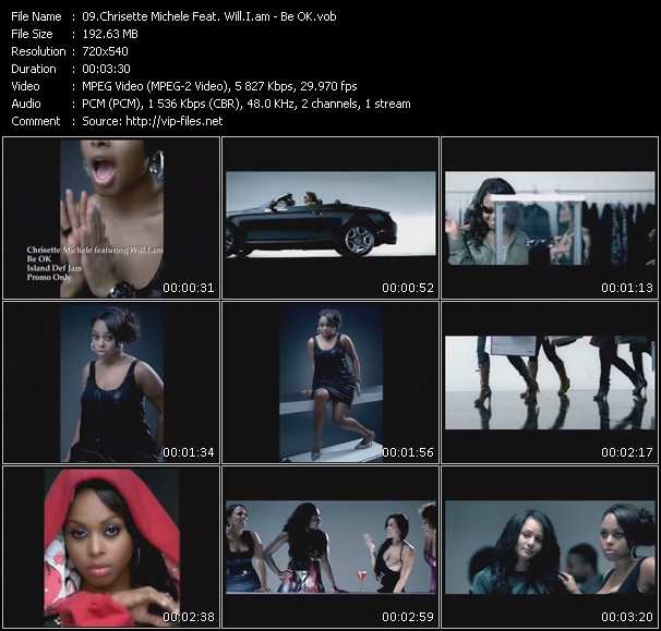 download Chrisette Michele Feat. Will.I.am « Be OK » video vob