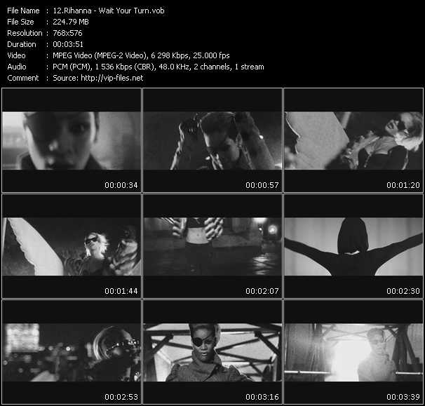 download Rihanna « Wait Your Turn » video vob