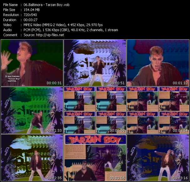 download Baltimora « Tarzan Boy » video vob