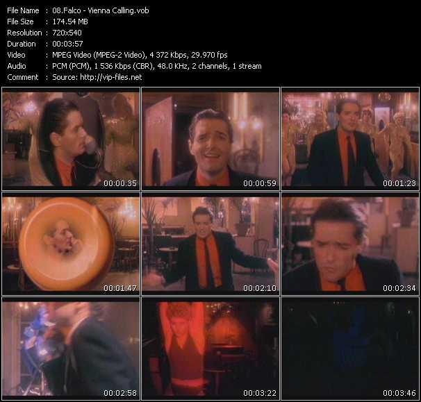 download Falco « Vienna Calling » video vob