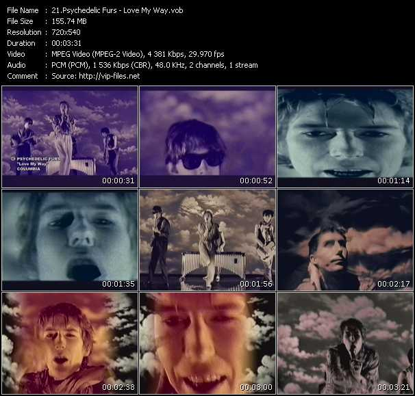 download Psychedelic Furs « Love My Way » video vob