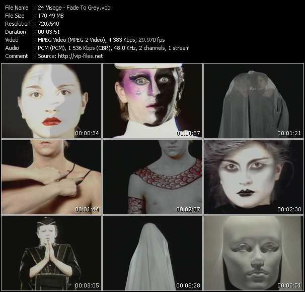 download Visage « Fade To Grey » video vob