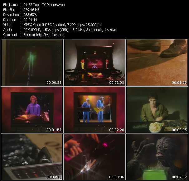 download ZZ Top « TV Dinners » video vob