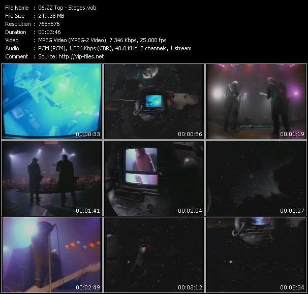 download ZZ Top « Stages » video vob