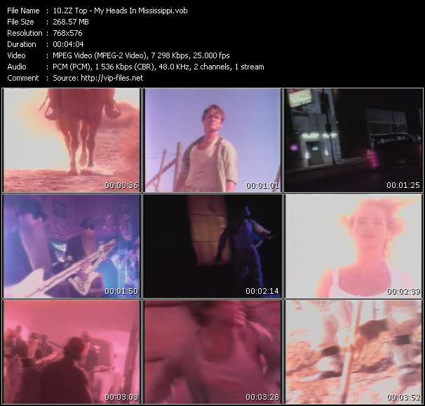 download ZZ Top « My Heads In Mississippi » video vob