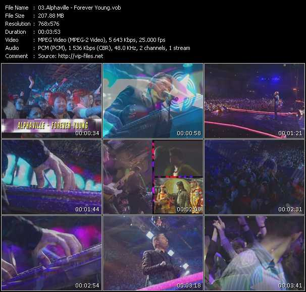 download Alphaville « Forever Young (Live From Moskau) » video vob