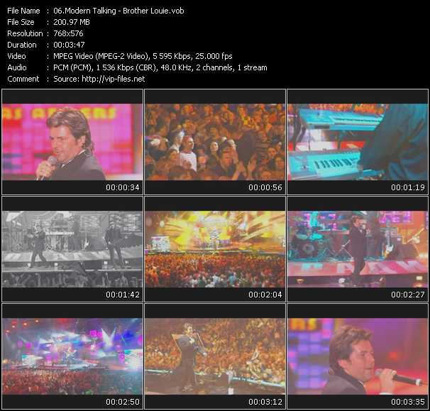download Modern Talking « Brother Louie (Live From Moskau) » video vob