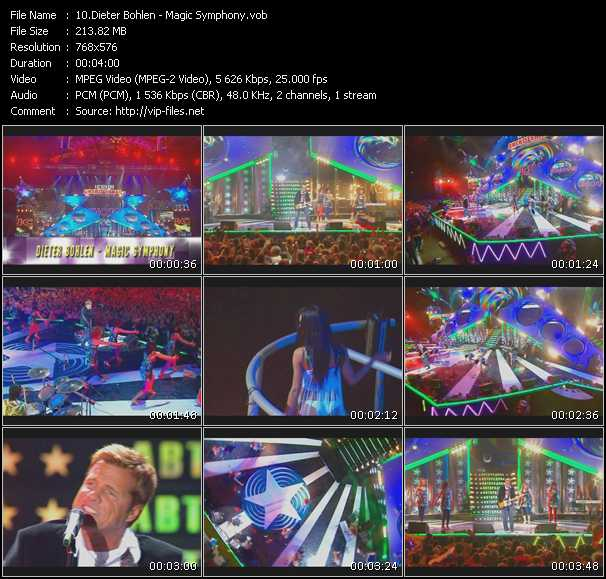 download Dieter Bohlen « Magic Symphony (Live From Moskau) » video vob