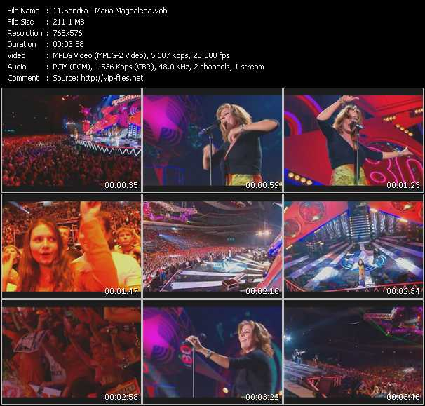 video Maria Magdalena (Live From Moskau) screen
