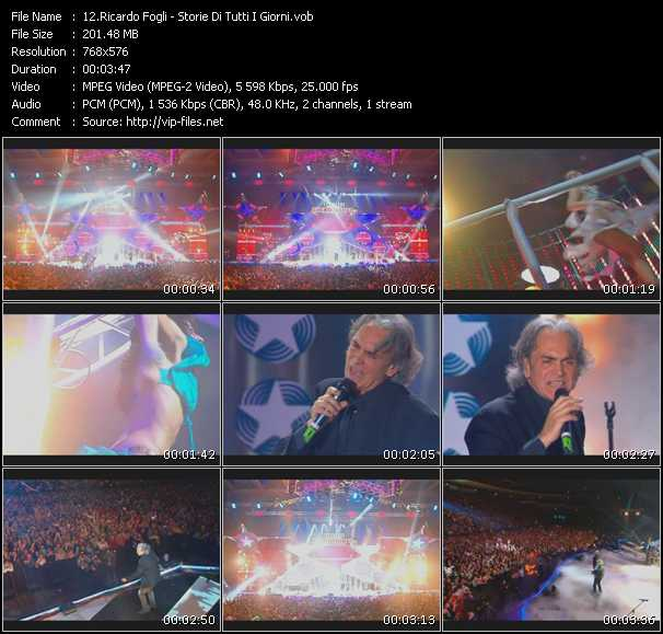 download Riccardo Fogli « Storie Di Tutti I Giorni (Live From Moskau) » video vob