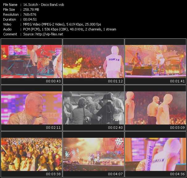 download Scotch « Disco Band (Live From Moskau) » video vob