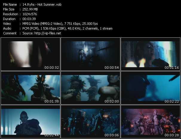 download Ryhs « Hot Summer » video vob