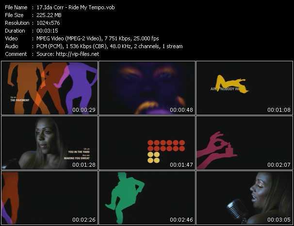 download Ida Corr « Ride My Tempo » video vob