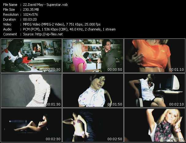 download David May « Superstar » video vob