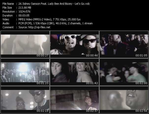 download Sidney Samson Feat. Lady Bee And Bizzey « Let's Go » video vob