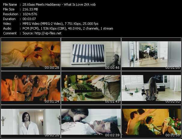 download Klaas Meets Haddaway « What Is Love 2k9 » video vob