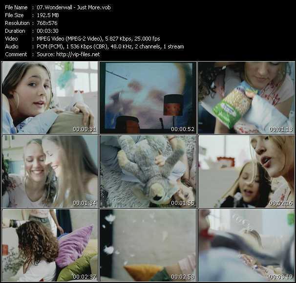 download Wonderwall « Just More » video vob