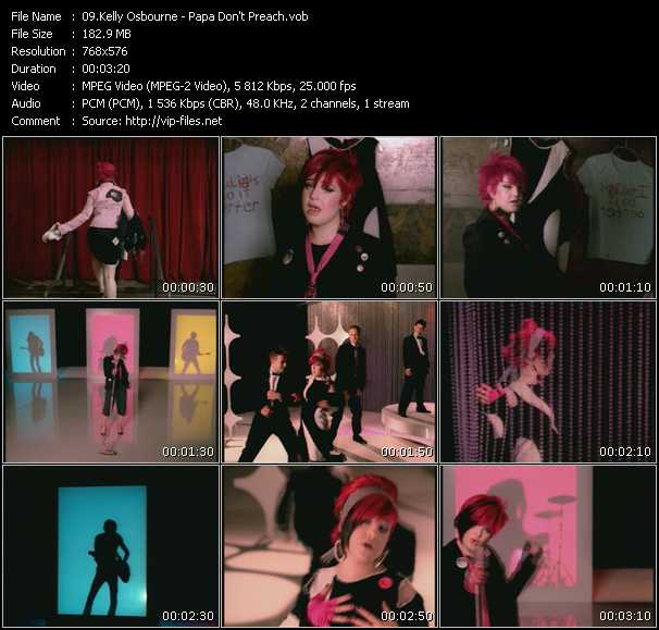 download Kelly Osbourne « Papa Don't Preach » video vob