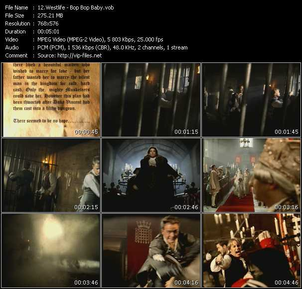 download Westlife « Bop Bop Baby » video vob