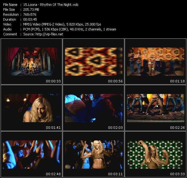video Rhythm Of The Night screen