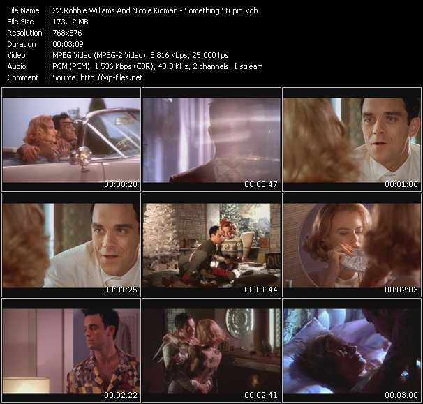 download Robbie Williams And Nicole Kidman « Something Stupid » video vob