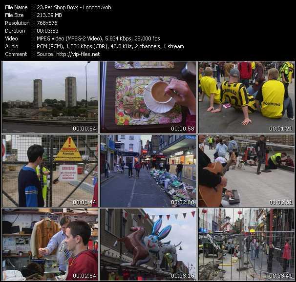 download Pet Shop Boys « London » video vob