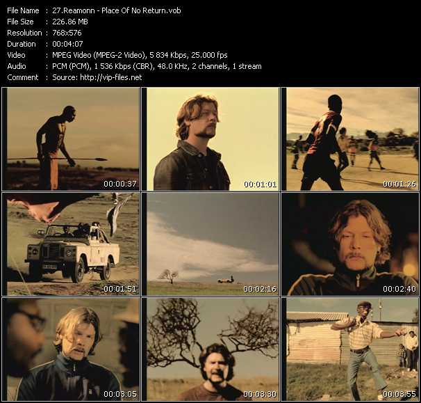 download Reamonn « Place Of No Return » video vob