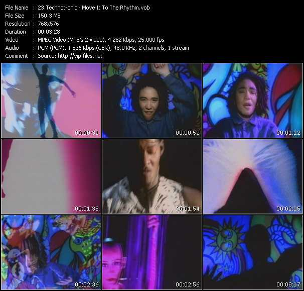 download Technotronic « Move It To The Rhythm » video vob
