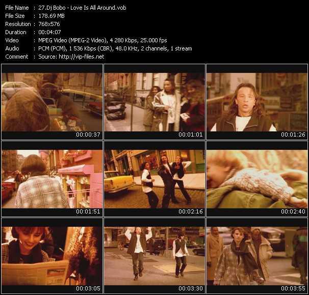 download Dj Bobo « Love Is All Around » video vob