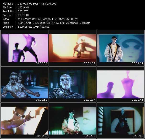 download Pet Shop Boys « Paninaro » video vob