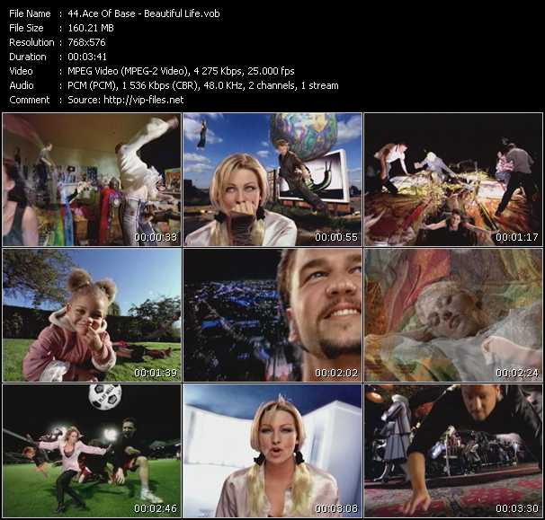 download Ace Of Base « Beautiful Life » video vob