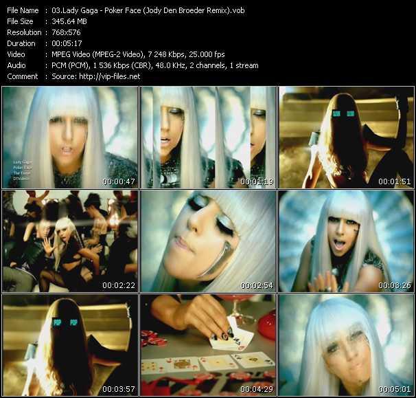 download Lady Gaga « Poker Face (Jody Den Broeder Remix) » video vob