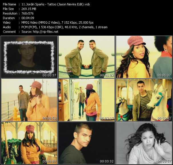 download Jordin Sparks « Tattoo (Jason Nevins Edit) » video vob