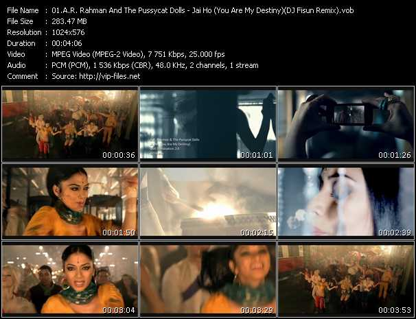 download A.R. Rahman And Pussycat Dolls « Jai Ho (You Are My Destiny) (DJ Fisun Remix) » video vob