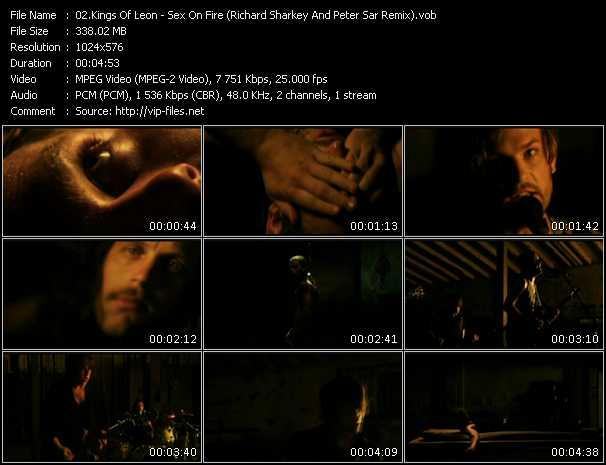 video Sex On Fire (Richard Sharkey And Peter Sar Remix) screen