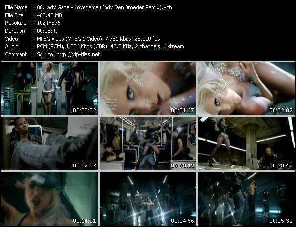 video Lovegame (Jody Den Broeder Remix) screen