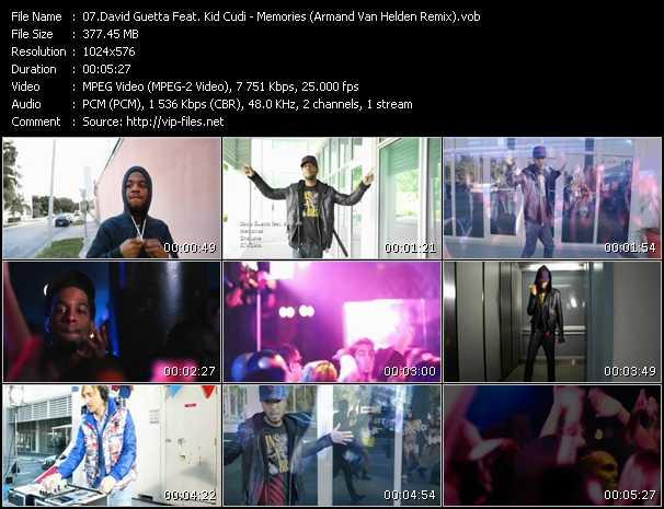 download David Guetta Feat. Kid Cudi « Memories (Armand Van Helden Remix) » video vob