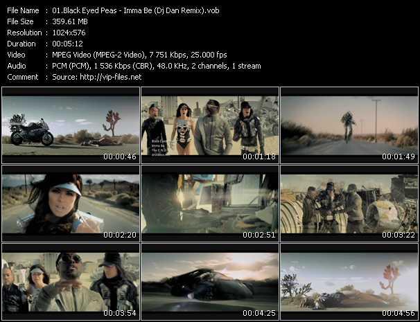 video Imma Be (Dj Dan Remix) screen