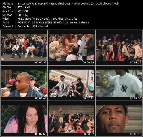 video Never Leave U (Uh Oooh Uh Oooh) screen