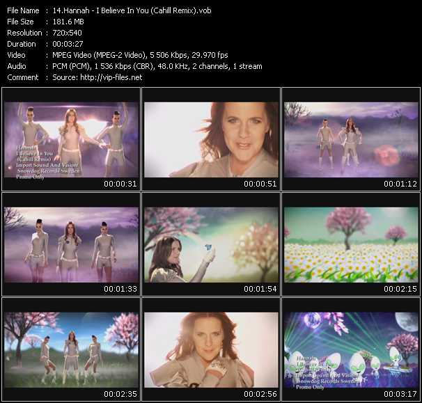 video I Believe In You (Cahill Remix) screen