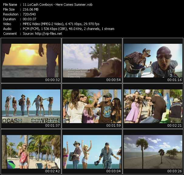 download LoCash Cowboys « Here Comes Summer » video vob