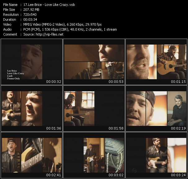 download Lee Brice « Love Like Crazy » video vob
