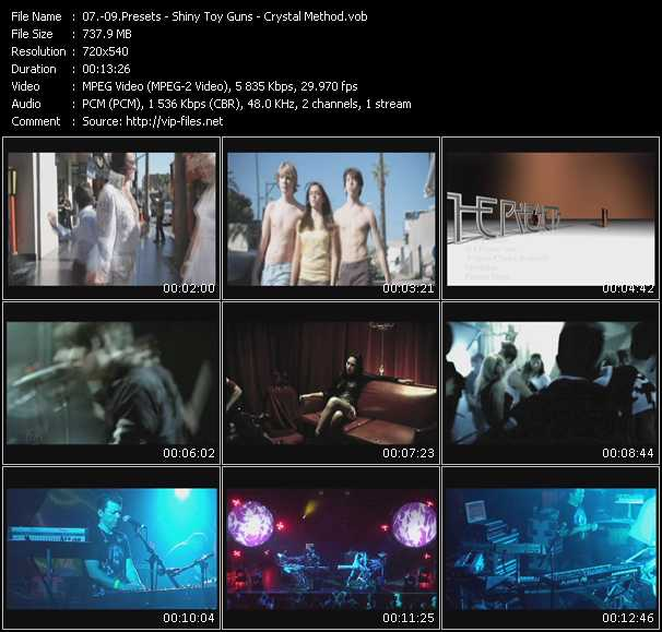 download Presets - Shiny Toy Guns - Crystal Method « If I Know You (Vince Clarke Remix) - Le Disko (Ferry Corsten Remix-Rhythm Chamber Video Edit) - Double Down Under » video vob